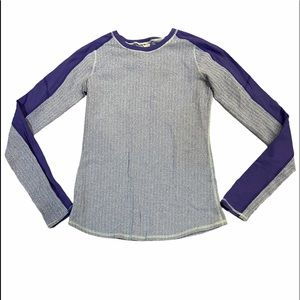 Ivivva Thermal Athletic Long Sleeve Patterned Top Size 14 in GUC